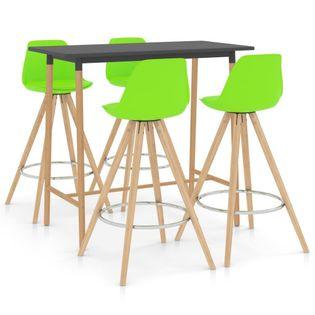 Lumarko 5-częściowy zestaw mebli barowych, zielony