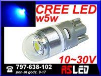 żarówka LED T10 Cree UHP niebieska 12v 24v wysoka jakość MOCNA