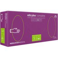Rękawiczki nitrylowe bezpudrowe NITRYLEX COMPLETE S 100 sztuk