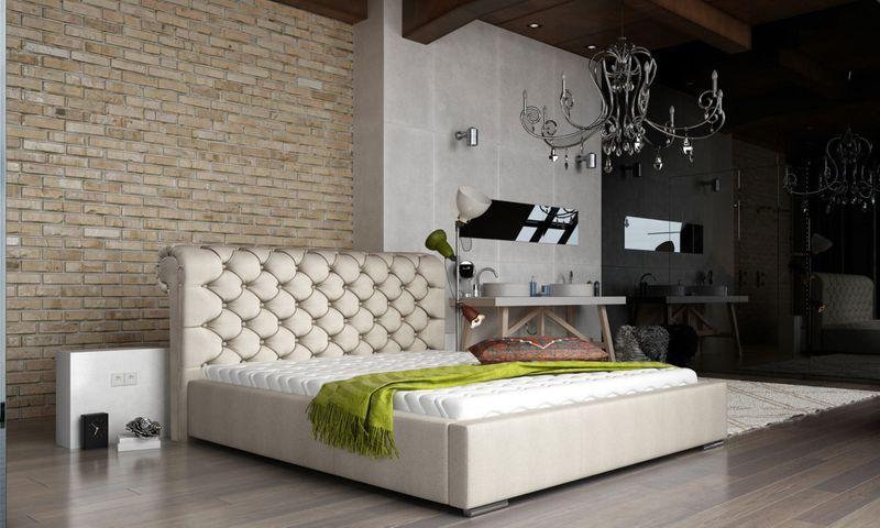 Łóżko Tapicerowane LONDON 160x200+ Stelaż zdjęcie 1