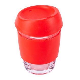 Szklany kubek Stylish 350 ml, czerwony