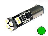żarówka LED BA9S, T4W 12V 1.6W CANBUS zielona