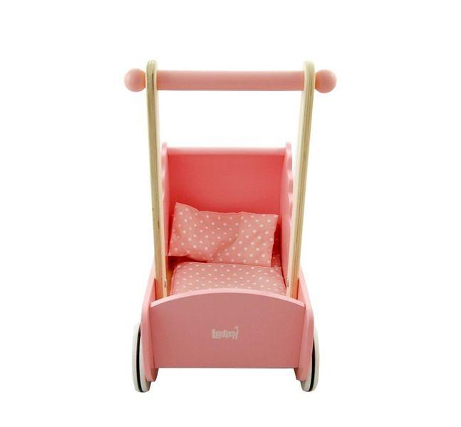 Drewniany wózek dla lalek zdjęcie 4