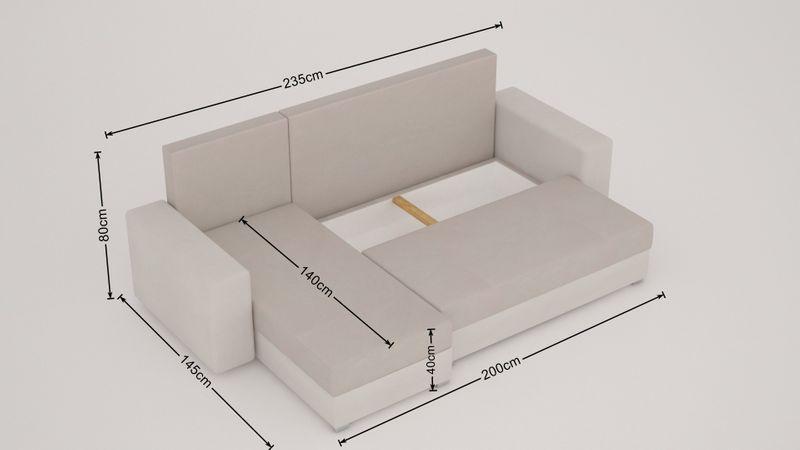 Nowoczesny narożnik Mojito, f.spania, pojemnik, wysoka jakość produktu zdjęcie 5