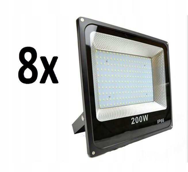 8X HALOGEN LAMPA NAŚWIETLACZ LED 200W MOCNY zdjęcie 1
