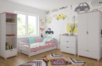 Łóżko RYSIO 160x80 z szufladą + GRATIS : Barierka ochronna i Materac