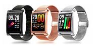 METALOWY SmartWatch Zegarek PULS CIŚNIENIE złoty