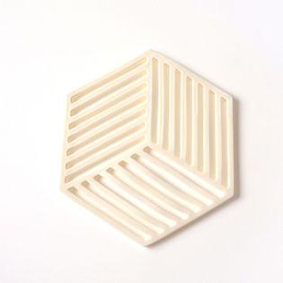Podkładka Silikonowa - Mata Izolacyjna - Żaroodporna Pod Naczynia Biały Hexagon