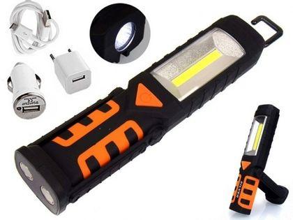 Lampa latarka warsztatowa 3W1 COB LED akumulator
