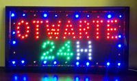 TABLICA LED NEON PANEL REKLAMA OTWARTE 24H OPEN