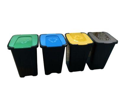 Zestaw koszy do segregacji śmieci Sortix 4x50L