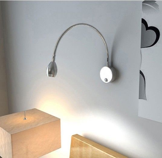 Lampka nocna kierowana do czytania do sypialni Kiniet LED 3W elastycz na Arena.pl