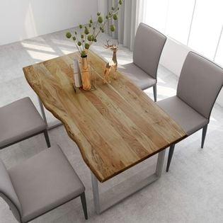 Stół jadalniany, 160 x 80 x 76 cm, lite drewno akacjowe