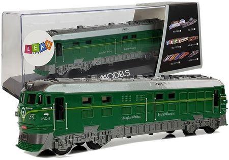 Pociąg Lokomotywa Pendolino Z Napędem Otwierane Drzwi Światła I Dźwięk Zielony