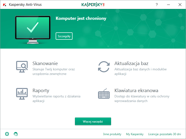 Kaspersky Anti-Virus 3 komputery / 2 lata na Arena.pl