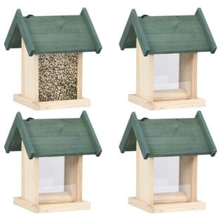 Karmniki dla ptaków, 4 szt., drewno jodłowe