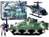Zestaw Wojskowy CZOŁG Helikopter ŻOŁNIERZE Akcesoria