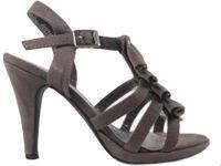 Szare sandały na szpilce kobiece buty damskie 36