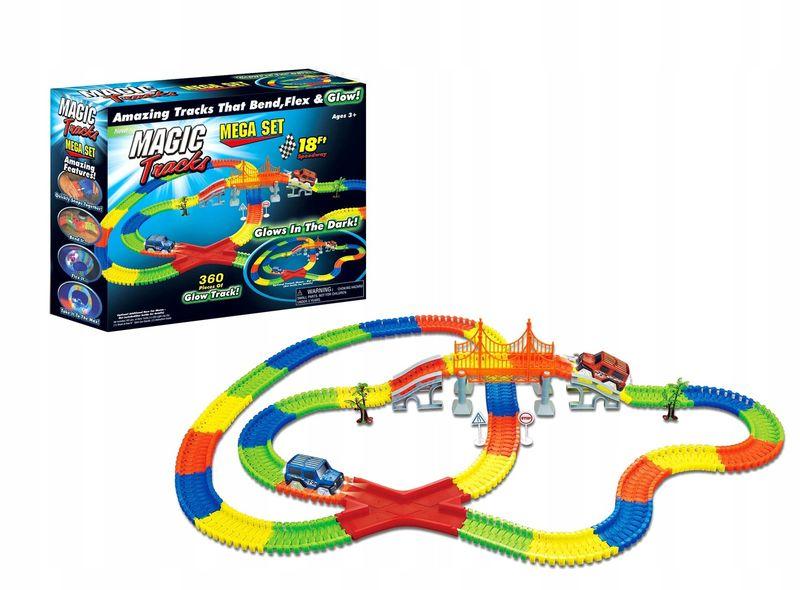 Super tor samochodowy magic tracks 360 elementów+ 2 autka świecące zdjęcie 1