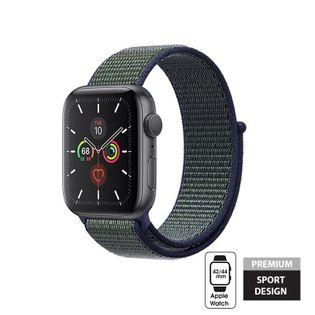 Crong Nylon Band - Pasek sportowy do Apple Watch 42/44 mm (Midnight Fog)