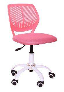 Krzesło obrotowe dla dziecka róż kółka do paneli