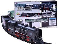 Kolejka elektryczna lokomotywa z wagonami ZB157