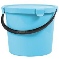 Wiadro z pokrywą Plast Team Berry 10L jasnoniebieskie