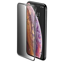 Baseus Full-Screen Szkło Hartowane 3D Privacy Na Cały Ekran Z Filtrem Prywatyzującym I Osłoną Na Głośnik Apple Iphone 11 Pro Max / Iphone Xs Max Czarny (Sgapiph65-Wc01)