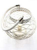Pleciony Lampion LED/ Dekoracja świąteczna / STYLOWY LAMPION