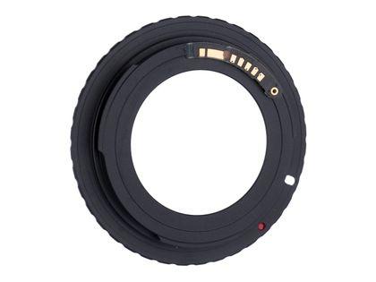 Adapter M42 do aparatu Canon EOS AF potwierdzenie ostroości + BLOKADA BOLCA PRZYSŁONY