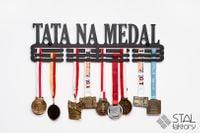 Wieszak na medale | TATA NA MEDAL #2 | 60cm | pomieści 90szt medali