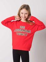 Czerwona bluzka dziewczęca 146