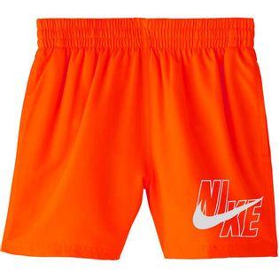 Spodenki kąpielowe dla dzieci Nike Logo Solid Lap JUNIOR pomarańczowe NESSA771 822