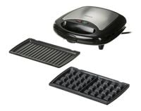 Camry Cr 3024 Black/silver, Sandwich Maker, 730 W, Number Of Plates 3, Number Of Sandwiches 2