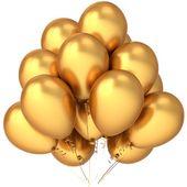 Balony lateksowe, złoty metallic, 12szt Kolor - Złoty