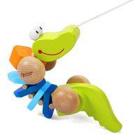 Zabawka Ciągania Krokodyl Dźwiękami Sznurkiem Eko