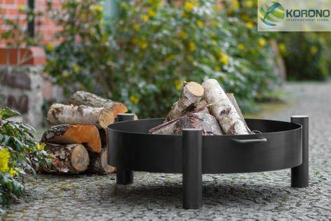 Palenisko ogrodowe Korono KOR321 70cm ze stali czarnej idealne palenisko do ogrodu pozwoli na bezpieczne użytkowanie ogniska