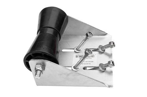 Rolka denna kilowa czarna z mocowaniem RKZ/P