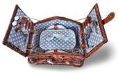 Kosz piknikowy z wyjmowaną termotorbą 4 os ceramika prezent ślub
