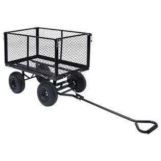 Ogrodowy wózek ręczny czarny 350 kg VidaXL