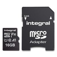Integral Ultima Pro Premium High Speed - Karta pamięci 16 GB microSDHC/100 MB / s/ Class 10 UHS-I U1/ V10 + Adapter