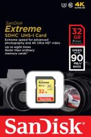 Karta pamięci SDHC SanDisk EXTREME 32 GB 90MB/s Class 10 UHS-I U3