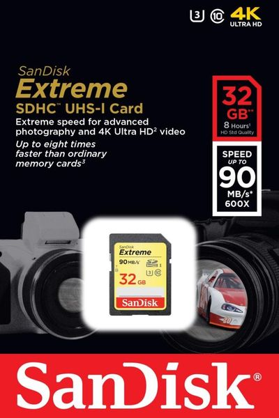 Karta pamięci SDHC SanDisk EXTREME 32 GB 90MB/s Class 10 UHS-I U3 na Arena.pl