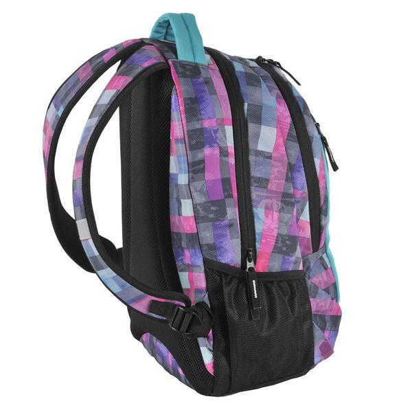 a53099836ada9 Plecak szkolny, młodzieżowy wycieczkowy BLOCK, kolorowa kratka PASO  (172808UI) zdjęcie 4