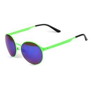 Okulary przeciwsłoneczne okrągłe zielone metalowe