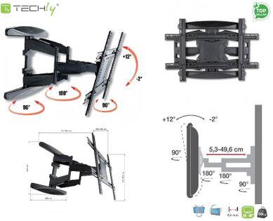 """Uchwyt ścienny LCD/LED Techly ICA-PLB 172L 40-80"""" obrotowy, czarny"""