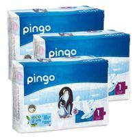 Pieluszki Pingo Ultra Soft 1 New Born 2-5kg 81szt. (3x27)