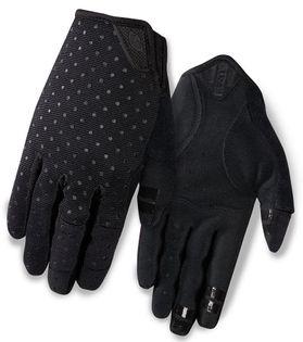 Rękawiczki damskie GIRO LA DND długi palec black dots roz. XL (obwód dłoni 205-210 mm / dł. dłoni 196-205 mm) (NEW)
