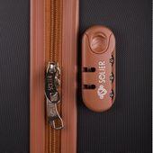 Walizka kabinowa torba podróżna twarda ABS mała S bordowa NOWY MODEL! zdjęcie 4
