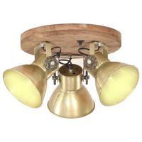 Industrialna lampa sufitowa, 25 W, mosiądz, 42x27 cm, E27